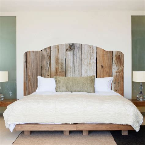 hardwood headboard rustic wood headboard wall decal rustic headboard wall