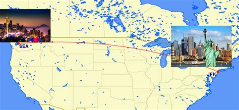 seattle new york map alaska airlines announces new route seattle to new york