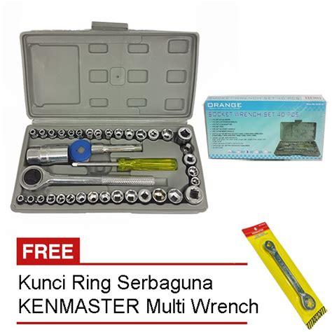 Kenmaster 40 Pcs Kunci Sok Set orange kunci sok set 40 pcs kenmaster kunci serbaguna