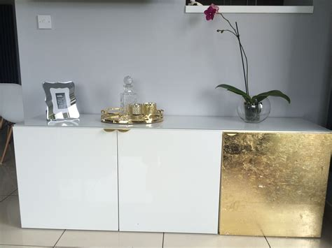 besta handles ikea besta cabinet hack with gold leaf and superfront holy