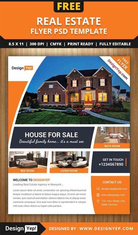 templates for real estate flyers real estate flyer template free word sle templatex1234