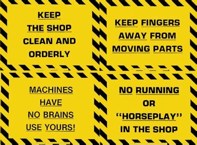 plastic laminated safety sign shop clean orderly