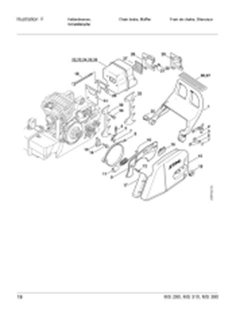 stihl ms290 chainsaw parts diagram stihl ms 290 stihl farm parts list page 23