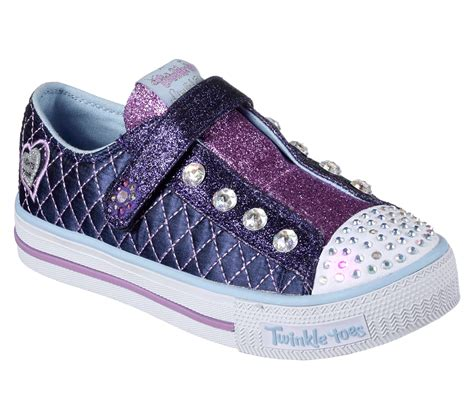skechers light up shoes girls buy skechers twinkle toes shuffles sparkly jewels s