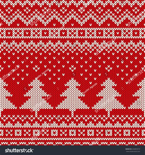 holiday pattern texture winter holiday pattern on wool knitted stock vector