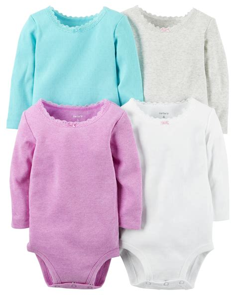 Bodysuit Carters 4 pack sleeve bodysuits carters