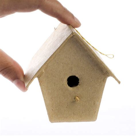 Paper Mache Craft Supplies - paper mache birdhouse ornament paper mache basic craft