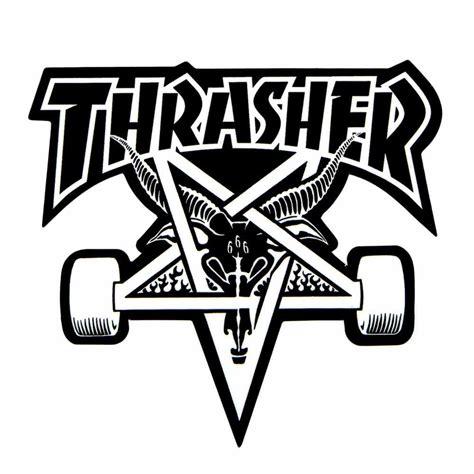 Black Stickers thrasher skategoat sticker 3 75 quot x 3 875 quot black calstreets skateshop