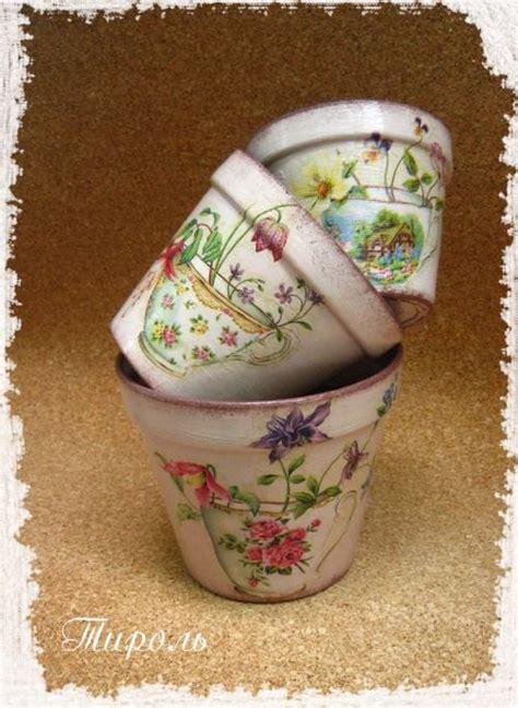 Decoupage Clay Pots Ideas - inspiration decoupage inspiration