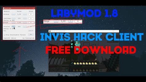 download youtube hack minecraft 1 8 labymod invis hack supersg client download