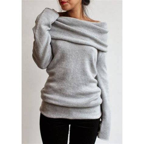 Sweater The Big gray sleeve pullover knitwear for twinkledeals