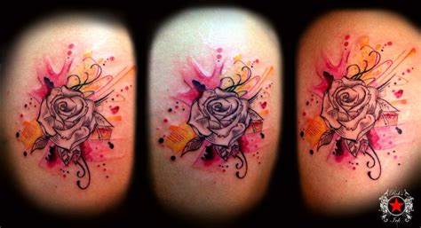 abstract rose tattoo images designs