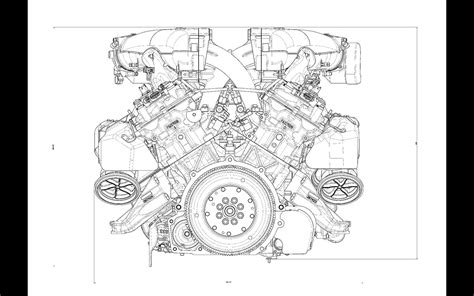 doodle engine 2013 f12 berlinetta mechanicals engine drawing