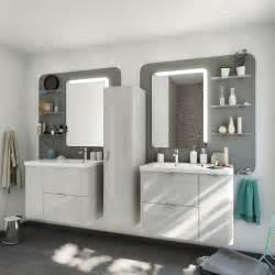 meuble de salle de bains neo shine gris gris 4 brillant 90