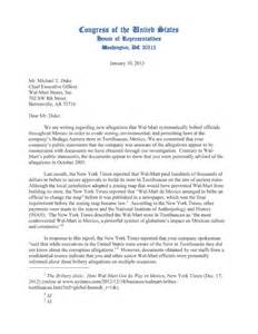 letter to congress format read the scathing letter congress sent wal mart ceo mike