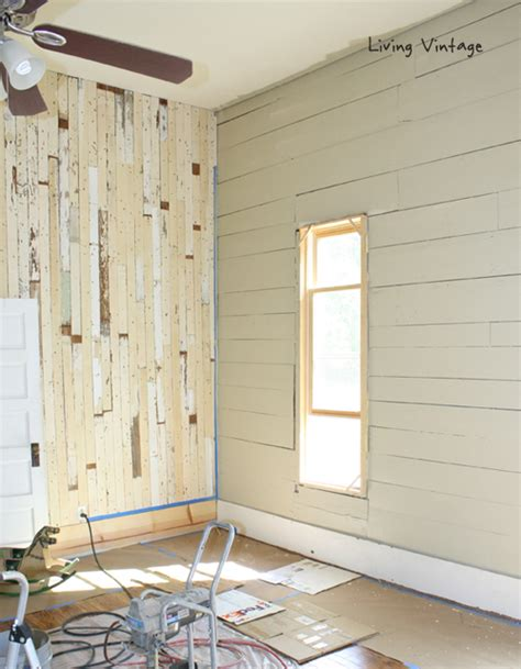 painted wood walls reclaimed wood paint and stain progress made in our