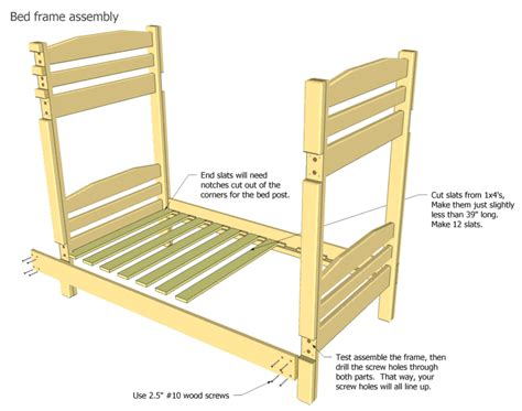 Parts Of A Bunk Bed Picture Plans To Build Bunk Beds