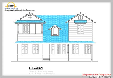 home plan and elevation 1983 sq ft kerala home design