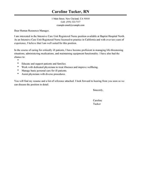resume templateample cover letter for nursing graduate nurse