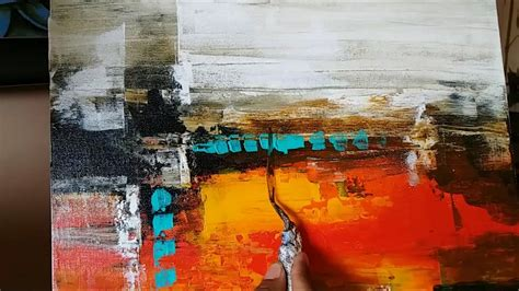 acrylic paint time acrylic abstract painting easy palette knife techniques