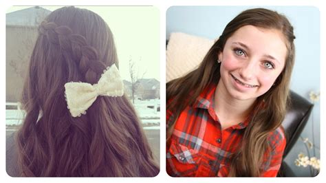 cute hairstyles with braids youtube pancake lace braid by brooklynandbailey cute girls
