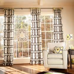 Here are some contemporary window treatments with sliding curtains