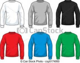 vector clipart of long sleeve shirts a variety of