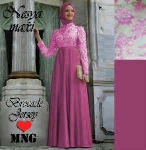 Anayah Benhur Bhn Jersey Fit L gamis pesta nesya brokat mng p 705 gaun muslim pesta brukat