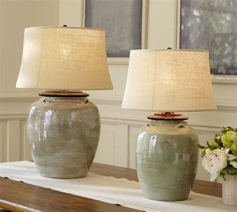 Oriental Dining Room Set by Courtney Ceramic Table Lamp Base Blue Pottery Barn