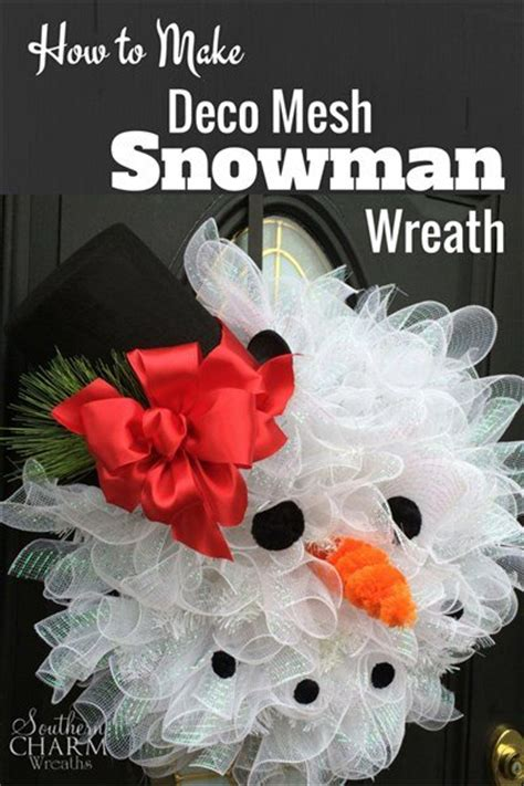 decor to make how to make deco mesh snowman wreath hometalk