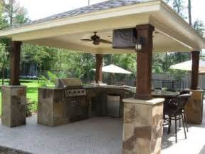 Covered Outdoor Kitchen Designs Bbq Island Outdoor Kitchens And Outdoor On