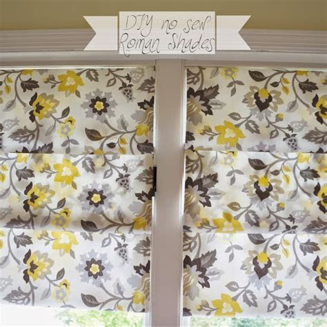 yellow pattern roman shade it s a pretty prins life diy no sew faux roman shades