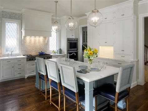 Kitchen island dining table transitional kitchen jeannie balsam
