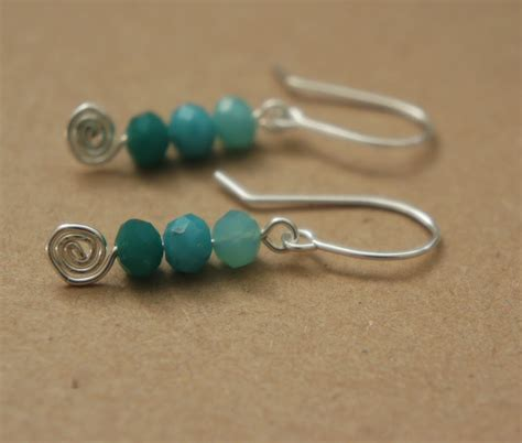 Handcrafted Earrings - fizzi jayne makes guest post spiral earrings
