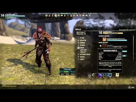 build up 3 eso eso v14 sorcerer vire vire hunter blade build 1 6 pvp pve live youtube