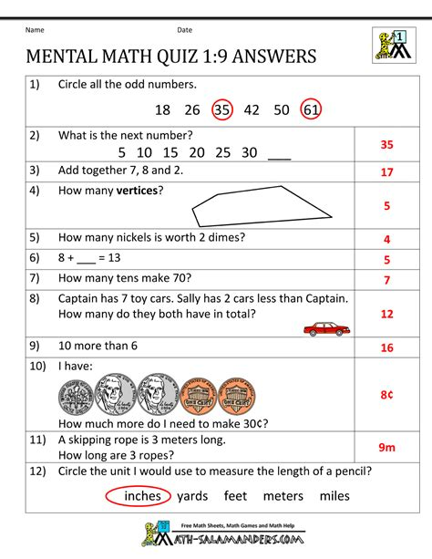 printable math worksheets year 9 first grade mental math worksheets