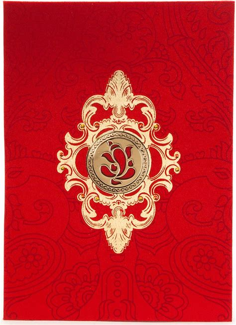 wedding card hindu hindu wedding card in satin with golden laser cutout