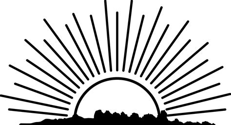 sun rays coloring page rising sun clipart black and white clipartxtras