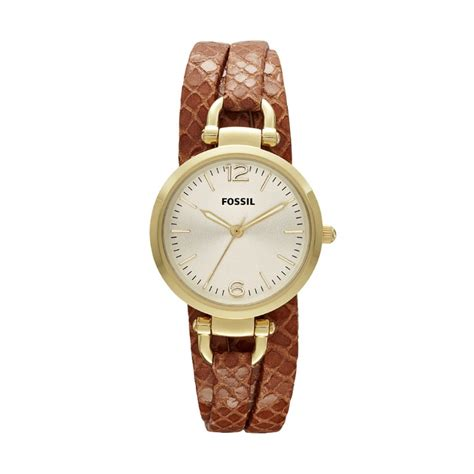 fossil idealist light brown leather watch fossil 174 watch collections georgia watches women georgia
