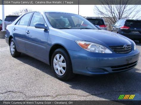 2004 blue toyota camry blue metallic 2004 toyota camry le taupe