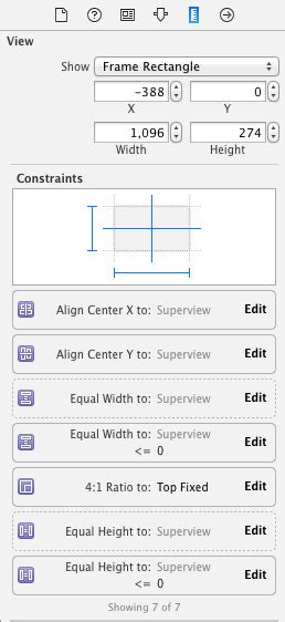 xcode update layout ios emulating aspect fit behaviour using autolayout