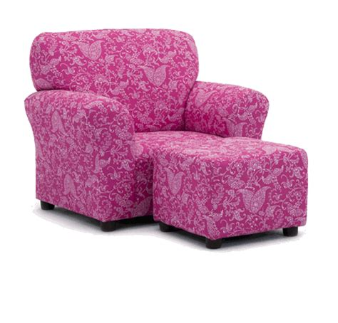 pink chair and ottoman paisley kids arm chair and ottoman kids arm chairs