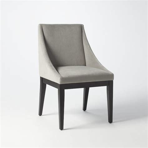 Gray Upholstered Chair by Curved Upholstered Chair Dove Gray