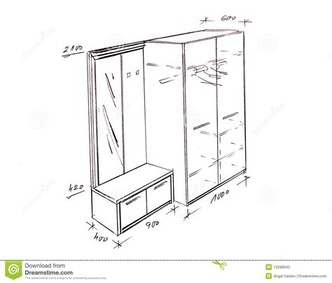 Kitchen Cabinet Layout Plans modern interior design entrance freehand drawing royalty