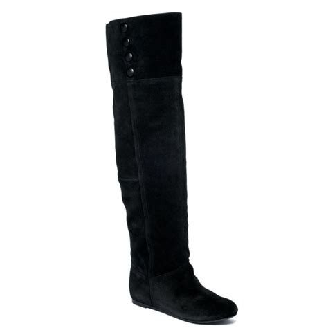 laundry tripin boots in black black suede lyst