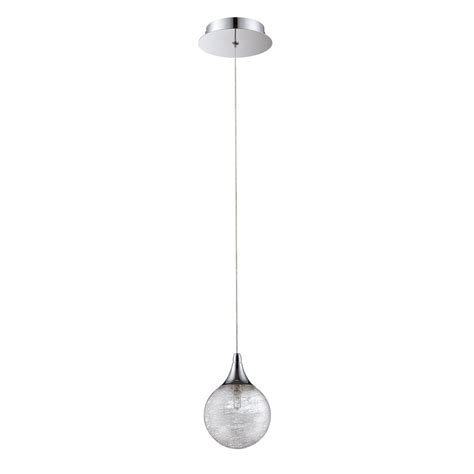 Wrought Iron Mini Pendant Lights Shop Kendal Lighting 4 75 In Chrome Wrought Iron Mini Textured Glass Globe Pendant At Lowes