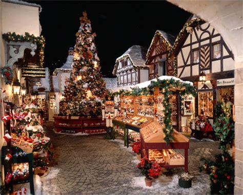 visiting bavarian christmas village at yankee candle