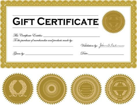 printable back rub gift certificates vector certificate template free vector 4vector
