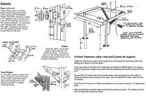 treehouse floor plan construct an a frame tree house in your backyard