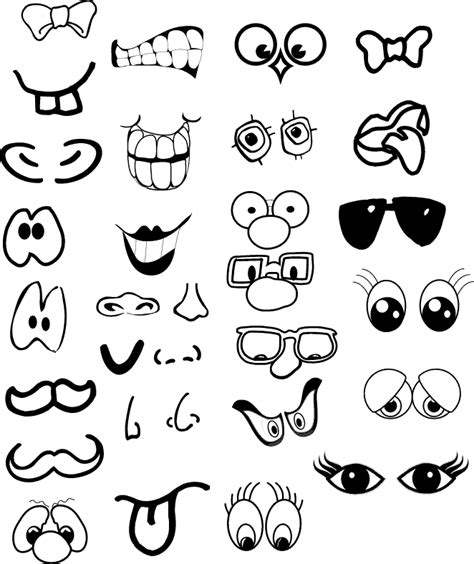 free printable eyes nose mouth 26 images of make a face eyes nose mouth template